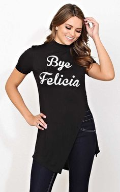 #FashionVault #styles for less #Women #Tops - Check this : BYE FELICIA Knit Tunic - - Black in Size by Styles For Less for $16.99 USD