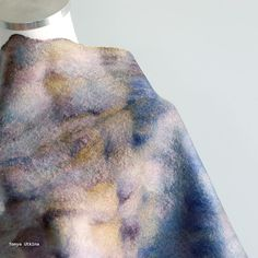 Beautiful hand dyed Malabrigo roving. Hand felted light scarf. #scarf #purple #felted @malabrigo