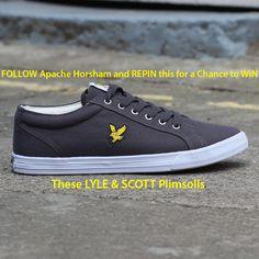 Lyle and Scott Halket Canvas Pump (Solid Grey) On Shoes, Footwear Shoes, Lyle Scott, Men's Fashion Brands, Plimsolls, Converse, Pumps, Sneakers, Competition