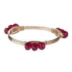 Gameday Garnet Wrapped Wire Bracelet | underthecarolinamoon.com