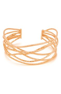 Details: Susan B at une femme d'un certain age loves this rose gold cuff from Gorjana
