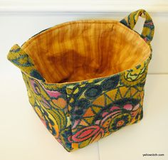 mommy is coo coo: How to Make A Fabric Bucket  DIY sewing tutorial