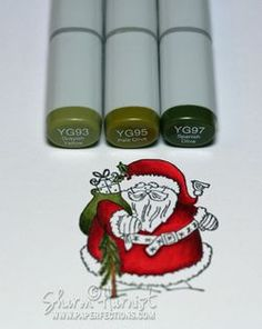 Santa Copic coloring tutorial.