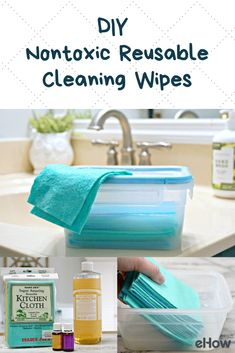 You can ditch those wasteful and potentially harmful disposable disinfecting wipes by learning how to make reusable disinfecting wipes. These DIY disinfecting wipes are better for you, your family, and the environment. Plus, they help you save money! Homemade Cleaning Wipes, Homemade Cleaning Supplies, Diy Home Cleaning, Household Cleaning Tips, Cleaners Homemade, Diy Cleaners, House Cleaning Tips, Cleaning Hacks, Homemade Disinfecting Wipes