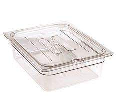Cambro 20CWCHN135 Camwear Food Pan Cover 12 size notched with handle clear  >>> Read review @