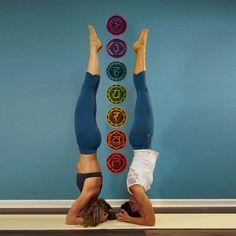 7 Chakras Yoga Wall Decals
