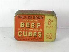 Old Shop Stuff | Old-food-tin-Brooke-Bond-Beef-Cubes for sale (19258)