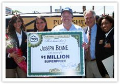 Joseph Beane was presented with a Big Check for a million dollars! His winning entry came from PCHSearch