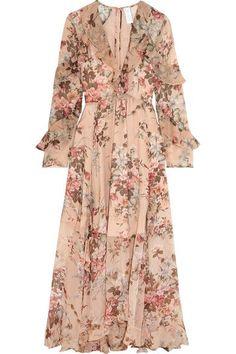 Zimmermann Aerial ruffled floral-print silk georgette dress