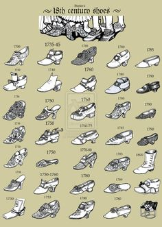 18th Century Shoes Via