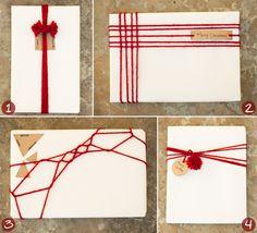 DIY: 4 creative ways to gift wrap using a ball of yarn