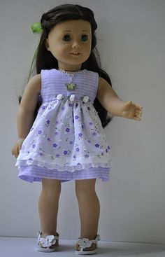 American Girl doll clothes dress hair clip by OneGirlsDream, $30.00