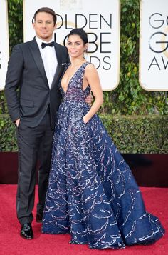 Channing Tatum and Jenna Dewan Tatum at the Golden Globes (Photo: Monica Almeida/The New York Times)