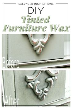 Tinting Furniture Wax With Paint Diy Kids Bedroom Furniture, Furniture Wax, Refurbished Furniture, Repurposed Furniture, Furniture Makeover, Painted Furniture, Furniture Ideas, Furniture Refinishing, House Furniture