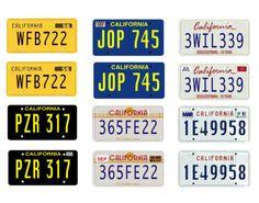 1-25-scale-model-car-1950-2000-California-license-tag-plates