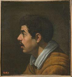 Diego Velázquez de Silva (1599–1660) - Head of a Man in Profile, c 1616 (front) - El Hermitage trae a Ámsterdam el Siglo de Oro español - 20minutos.es