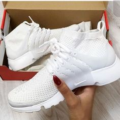 ISO Women's Nike presto high top Want them! Presto women's high top by Nike in white size 6.5 or 7 Nike Shoes Sneakers