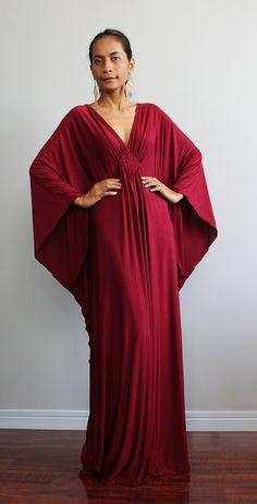 Kaftan Dress  Kimono Butterfly Maxi Dress Elegant by Nuichan, $59.00