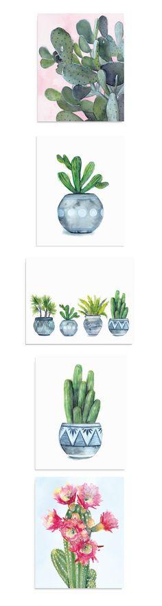 These modern boho decor art prints are so pretty! Bohemian Interior, Bohemian Design, Home Decor Inspiration, Decor Ideas, Tropical Wall Decor, Moroccan Spices, Interior Decorating Tips, Cactus Art, Modern Boho