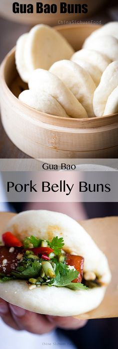 Gua bao, taiwanese braised pork with fluffy steamed buns ChinaSichuanFood.com