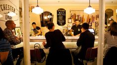 Small and cosy: Grab a stool for wine, meat and easy, diner-style eating. Chester White, Restaurant Bar, Cosy, Easy Diner, Places To Go, The Cure, Stool, Wine, Meat