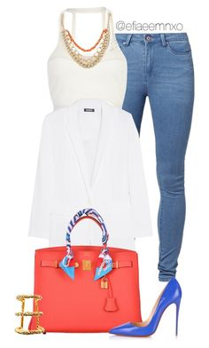 """Step in"" by efiaeemnxo ❤ liked on Polyvore featuring Noisy May, Pacha, DKNY, Hermès, Christian Louboutin, Paula Mendoza, christianlouboutin, hermes, sbemnxo and styledbyemnxo"