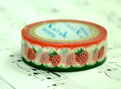 1 Roll of Japanese Washi Tape Roll  Strawberry by CollectingLife, $3.00