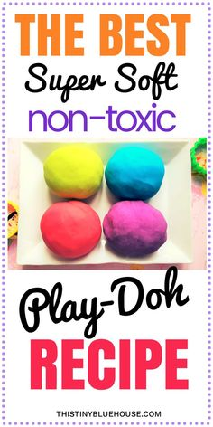 The best super easy non-toxic play doh recipe. Super soft, non sticky that stores really well this super simple play-doh recipe is guaranteed to keep your kids busy for hours Play-Doh Recipe | Easy Play Doh Recipe | DIY Play-Doh | Homemade Play-Doh | Play Dough Recipe