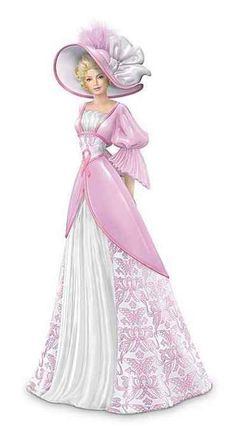 Thomas Kinkade Lady Figurines