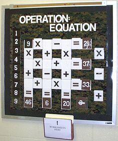 interactive math bulletin boards