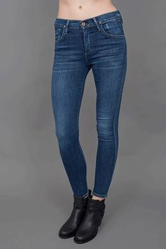 """""""These fit so well and are so comfortable you don't even feel like you're wearing jeans! I love pairing them with a T-shirt, blazer, and flats during the day, then switching to a heel at night.""""    Goldsign Virtual Jeans in Zagir, $235, available at Madison."""