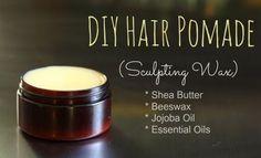Hair Pomade Recipe (Sculpting Wax)