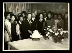 Rev. Dr. Martin Luther King Jr. at his 36th birthday party.