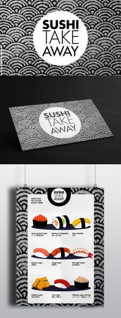 Sushi take away, graphic design project. www.eribook.virb.com
