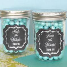 Personalized Chalkboard Mini Mason Jars