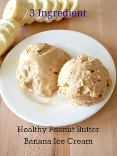Healthy Peanut Butter Banana Ice Cream: I used 2 frozen sliced bananas 1tbs PB  1tbs pb2 ... Blend in food processor ... New favorite dessert!!