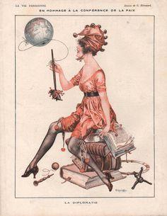 Chéri Hérouard (1881 - 1961). La Vie Parisienne, April 1919. [Pinned 22-i-2015]