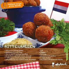 Yum!!!! Bitterballen Recipe, Dutch Recipes, Cooking Recipes, Dutch Croquettes, Typical Dutch Food, Caribbean Recipes, Beef Dishes, Appetisers, Food For Thought