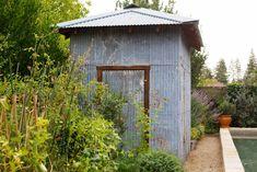 Sonoma garden shed corrugated metal ; Gardenista