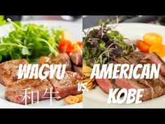 42bded438341 Japanese Miyazaki Wagyu beef and American Kobe Steak prepared with minimal  seasoning and paired with fried