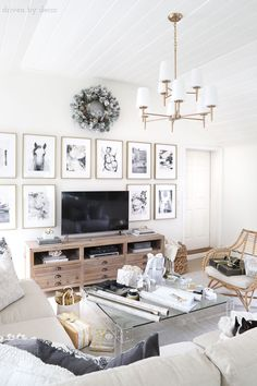 Five Lighting Favorites! Love this two-tiered brass chandelier! So perfect in this family room!Love this two-tiered brass chandelier! So perfect in this family room! Living Room Remodel, My Living Room, Living Room Decor, Family Room Lighting, Living Room Lighting, Family Room Chandelier, Living Room Chandeliers, Family Room Decorating, Family Room Design
