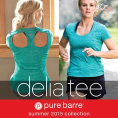 Enhanced moisture management, quick dry technology, front leg shirring detail, flat waistband with inside pocket, smooth chafe free flatlock seams, and #PureBarre back leg branding.