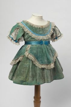 1870's Child's dress. Obviously for a very young child.
