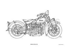 INDIAN FOUR 1932 Original Handmade Drawing Print by drawspots, $42.00