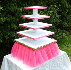 Tutu Cupcake Stand 5 Tier Square Style by OhSoSweetStands on Etsy, $160.00 cake-stands