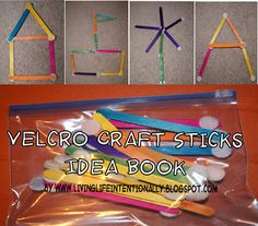 DIY velcro craft sticks with free printable idea book