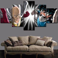 Everything on SALE & Free Worldwide Shipping! Set 5 Panel Boku no Hero Academia Izuku Midoriya And One Punch-Man Saitama Poster Price: $ 20.00 & FREE Shipping #toys