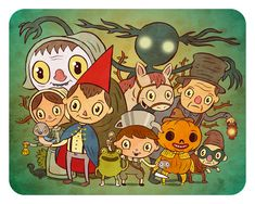 """""""Over the Garden Wall"""" 8 x 10 limited edition print"""