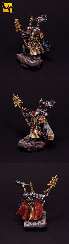 40k - Dark Angels Chaplain by UnlimitedColours. Great inspiration for my own version of this model.