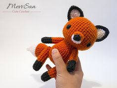 Crochet this cute pocket-sized fox pal with Lion Brand Vanna's Choice! Find the cute amigurumi pattern by Mevlinn Gusick on Ravelry.